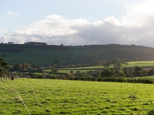 Bottom field and view at Thornbridge Outdoors