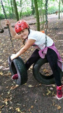 Pupil on the low ropes