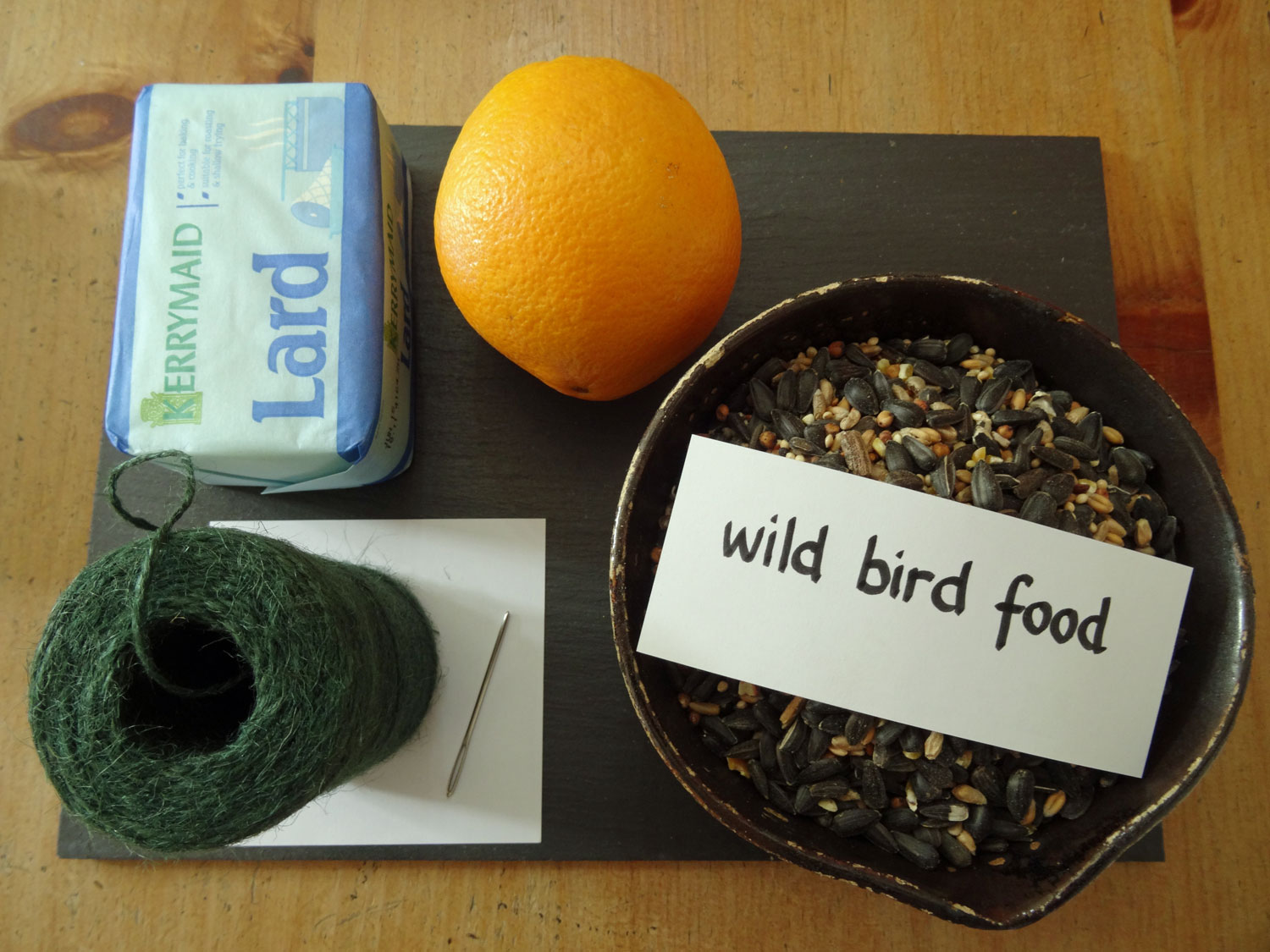 Things to make bird cake