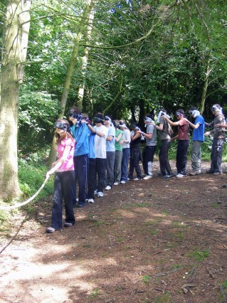 Pupils on the nightline activity