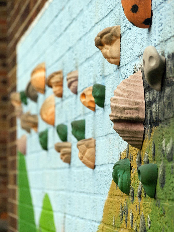 Outside climbing wall