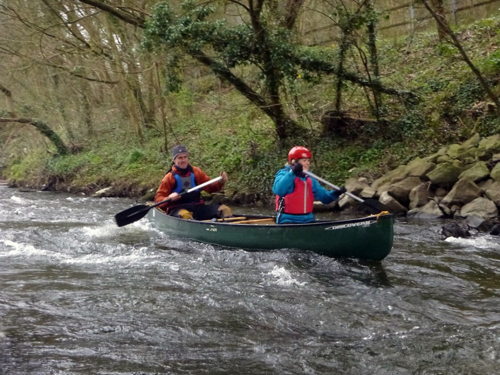 Adventure canoeing in the Peak District