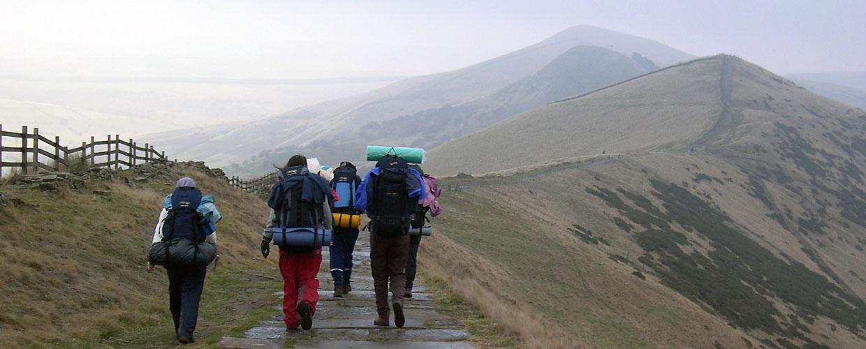 5 pupils walking on Duke of Edinburgh