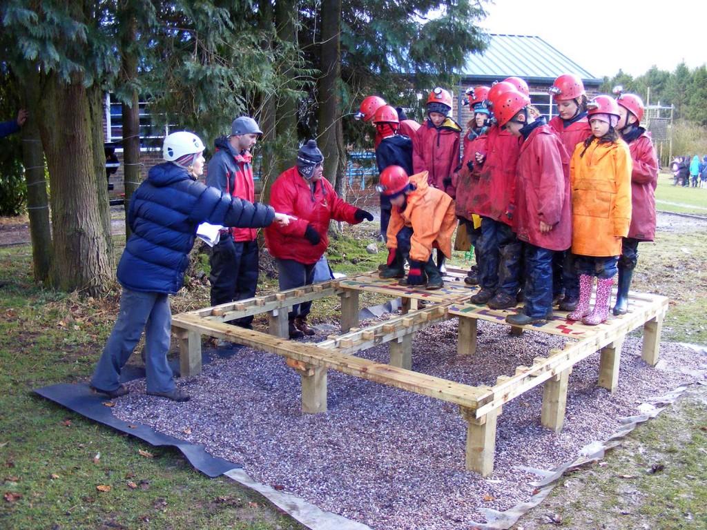Pupils taking part in the Thornbridge Challenge (onsite ground-based)