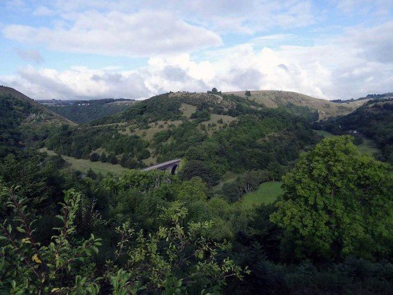 A view of Monsal Head during a walk on a sunny day