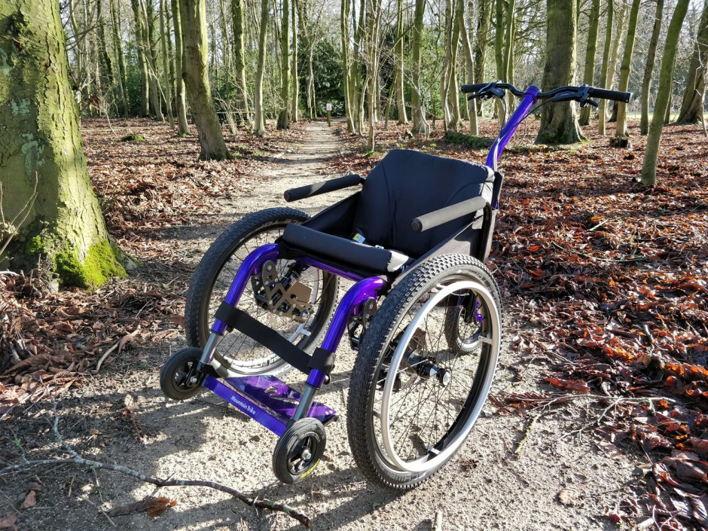Mountain Trike Push on the bike trail at Thornbridge Outdoors