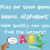 Activity Week 8 – Manic Alphabet